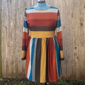 Dresses & Skirts - Colorful, casual long sleeved dress